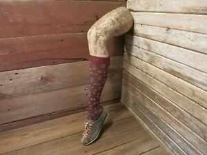 Vintage Rare Female Mannequin Leg With Sock And Shoe