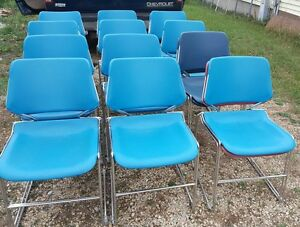 25 Vintage Krueger Matrix Stacking Chairs Chrome Home office school church