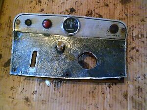 International Cub 154 Low Boy Ih Tractor Dash Panel W Gauges Switches