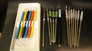 Lot 7 Dental Instruments Dentsply 25k Scaler 9502 Cavitron 8 85 5 85 Insert Tips
