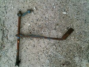 Ford 8n Tractor Right Brake Pedal Shaft W Pedal Lock Bar