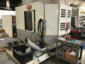 1998 Haas Hs 1 Hmc Full 4th Axis Thru Spindle Coolant Rigid Tap Ext Memory