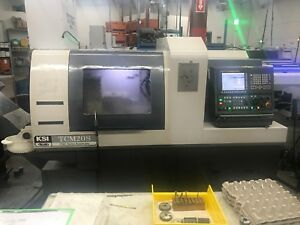 2016 Ksi Tcm 20s 7 axis Swiss type Cnc Lathe Bwg Mag Bar Feed Only 3362 Hours