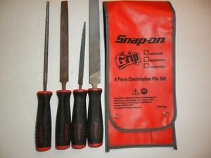 Snap On Sghbf500 4 Piece Soft Grip Handle Mixed File Setsghf614 615 616 Free Sh