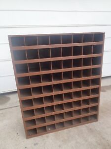 Industrial Metal Pigeon Hole Parts Hardware Storage Bin Steel Cabinet Organizer