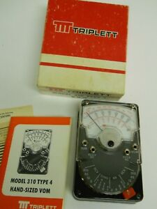 Vintage Triplett 310 Type 4 Vom Meter 49 10580 In Box No Leads