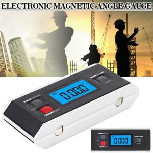 Electronic Digital Angle Meter Cube Gauge Magnetic Inclinometer Gauge Backlight