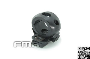 FMA Surefire Scout Light Mount for OPS-Core ARC Helmet Rail (1 Inche Black)