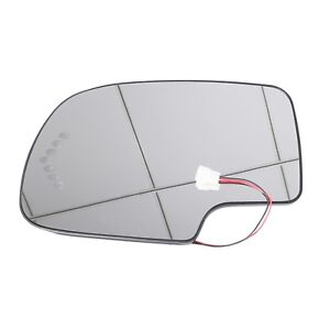 Heated Led Turn Signal Driver Side View Mirror Glass For 03 07 Chevy Gmc Lh