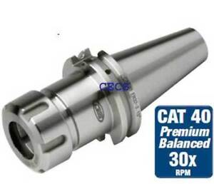 Sowa Gs Tooling Cat 40 Er 11 X 4 0 30k Rpm Balanced Cnc Collet Chuck 0002 Tir