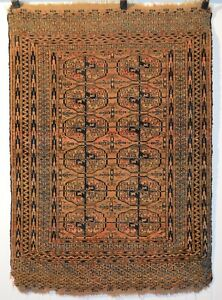 Antique Turkmen Turkoman Tekke Dowry Wedding Rug Rare Color N1