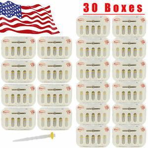 Usa 30 Box Dental Fiber Post Resin Post Drill Screw Thread Quartz 10pc pack Hx