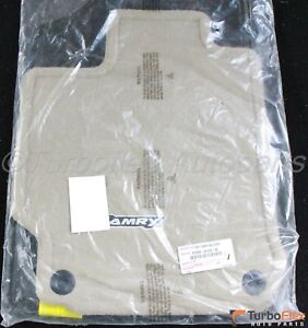 Toyota Camry 2012 2014 Ivory Carpet Floor Mat Set Genuine Pt208 03120 40
