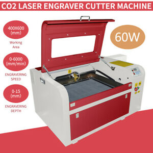 Usb 60w Co2 Laser Cutter Engraving Cutting Machine 600mmx400mm
