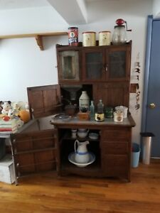 Antique Hoosier Cabinet Oak All Original