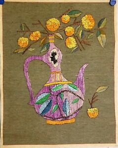 Korean Original Embroidery Painting By Handmade Pottery