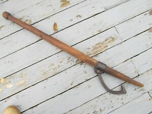 Antique Columbus Ind Iron Cant Hook Peavy Axe Log Dog Roller Tool