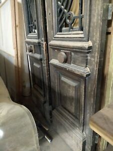 Tall Iron Grill Doors With Carved Oak Medallions 158 Tall By 54 Wide