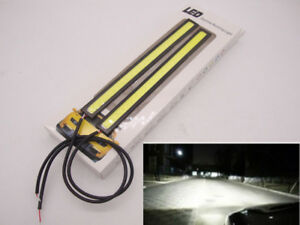 Pair Daytime Running Light Drl Led Cob Fog Driving Car Fog Bulb Waterproof White