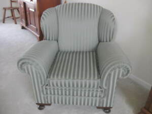 1930s Antique Upholstered Arm Chair New Upholstery Original Support