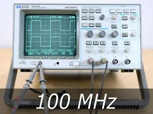 Hp Agilent 54601b 4 channel 100 Mhz Oscilloscope 2 New Probes Very Clean