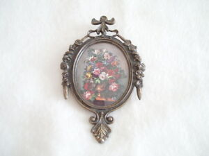 Vintage Ornate Metal Oval Picture Frame 6 50 X 3 75 Inches
