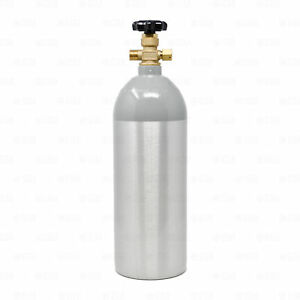 5lb Aluminum Co2 Gas Tank Cylinder For Draft Beer Kegerator System Cga320 Valve