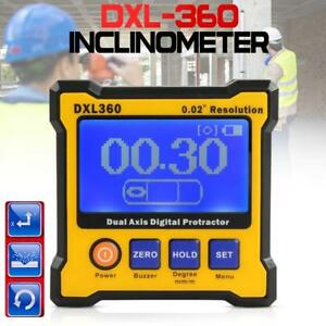 Dxl360 Dual Axis Digital Angle Protractor Inclinometer Meter 0 02 Resolution