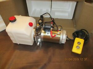 Hydraulic Power Unit Double Acting 12 Vdc For Trailer Crane Hoist 4 Liter