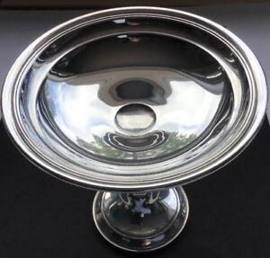 Nice Gorham Sterling Silver Compote Candy Dish 1102 Bowl 6 Diameter 313 Grams