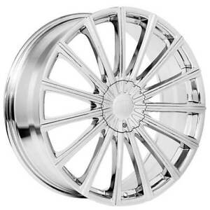 4rims 17 Velocity Wheels Vw10 Chrome Rims Fs