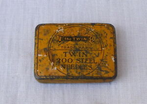 Old Vintage The Twin Trade Mark 200 Steel Needles Box Made In England