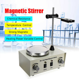 79 1 Hot Plate Magnetic Stirrer Mixer Stirring Laboratory Dual Control 1l New