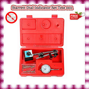 Starrett Dial Indicator Set Test 001 With On Off Magnetic Base Supply Magnetic