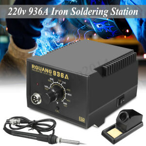 8 In 1 220v Soldering Iron Station Welding Pen Hot Air Electric Smd Rework Tool