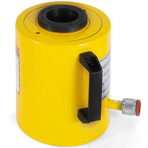 60 Tons 2 Stroke Single Acting Hollow Ram Hydraulic Cylinder Jack Active Demand