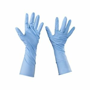 Box Partners Nitrile Gloves With Extended Cuff large bl 50 cs Bxp Glv2014l