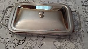 Silverplate Covered Buffet Server Casserole With Glass Insert Perfect