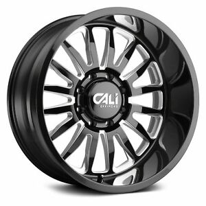 Cali Offroad 9110 Summit Wheels 20x10 25 6x135 87 1 Black Rims Set Of 4