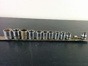 ac916 Snap on 11pc 3 8 Drive 6 point Metric Socket Set 8 10 19 Mm