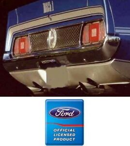 1971 1972 Mustang Mach 1 Deck Quarters Stripe Kit Ford Licensed 2 Colors