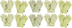 10 pairs X large Husky Water Resistant Leather Work Glove Hk86006 xl