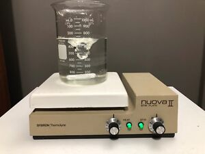 Sybron Thermolyne Nuova Ii Hot Plate Magnetic Stirrer Stir Plate Sp18425 120v