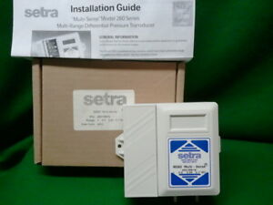 Setra 2601ms1n Multi Range Differential Pressure Transducer New