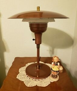 Vintage Mid Century Modern Flying Saucer Ufo Atomic Age Desk Or Table Lamp