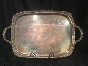 Fb Rogers Silver Plate Heated Serving Tray Silverplate