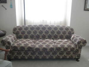 1930s Antique 3 Seat Sofa New Upholstery Original Support Stuffing