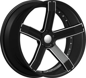 New Set 4 24 Rsw100 Black Wheels 300c Charger Challenger Car Rims