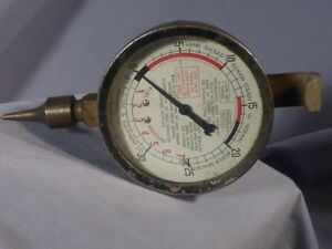 Allen Electric Equipment Co Vacuum Fuel Pump Gauge