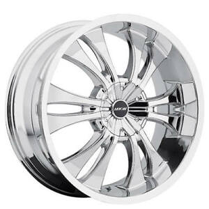 4rims 17 Mkw Wheels M114 Chrome Rims Fs